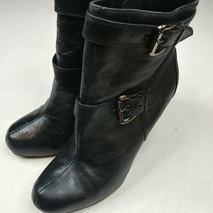 """Bakers """"Sole Project"""" Black Leather Boots Womens 9"""